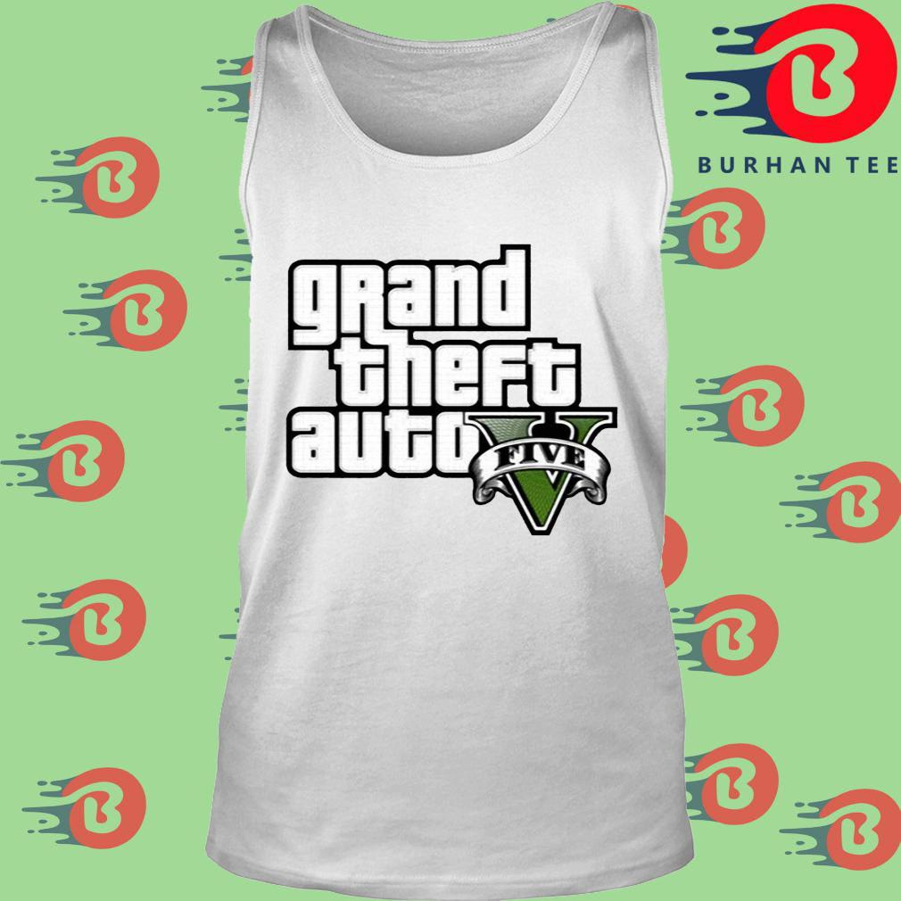 Grand Theft Auto V Logo Shirt trang Tank top