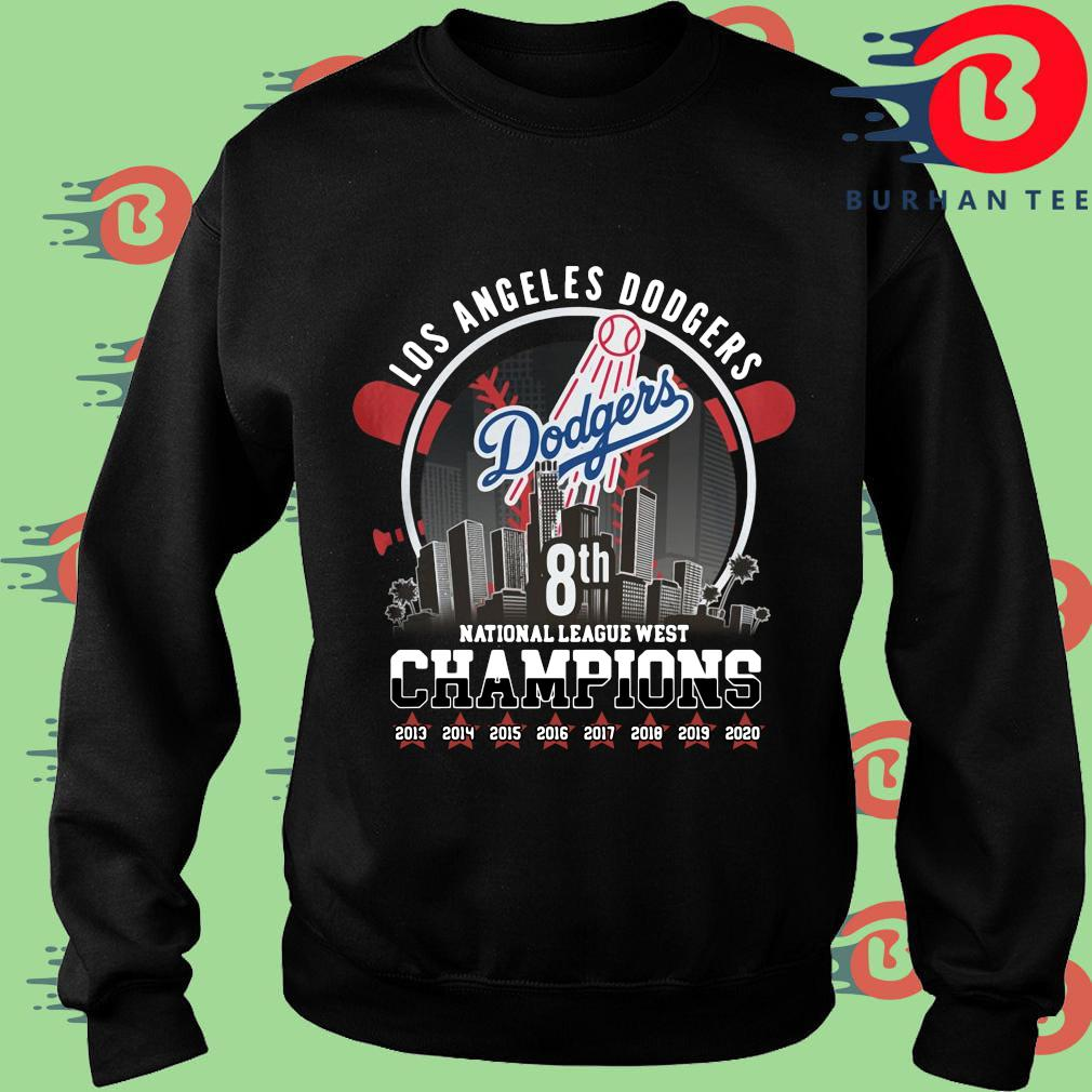 Los Angeles Dodgers 8th national league west Champions 2013-2020 shirt
