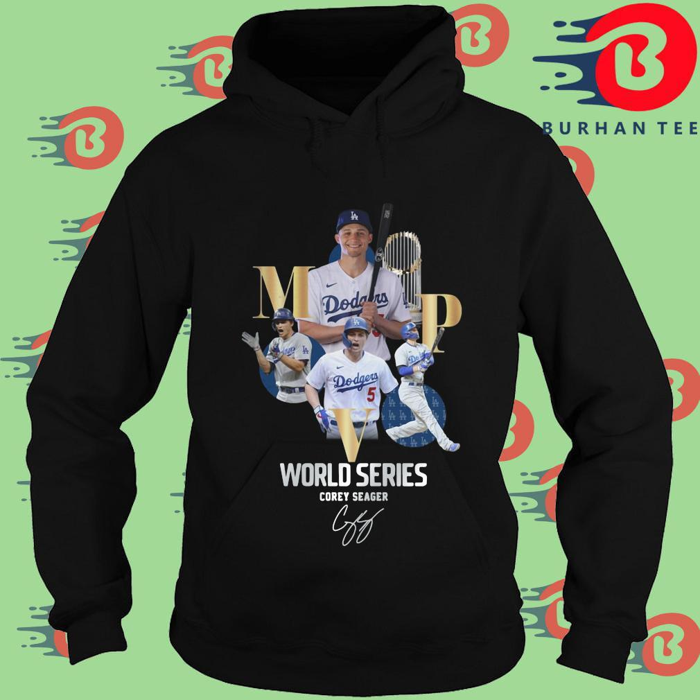 Los Angeles Dodgers world series Corey Seager MVP signature s Hoodie