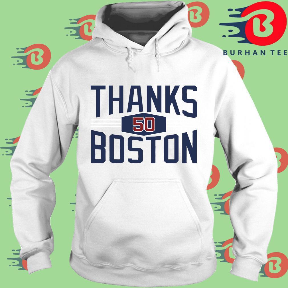 Mookie Betts thanks Boston s trang Hoodie