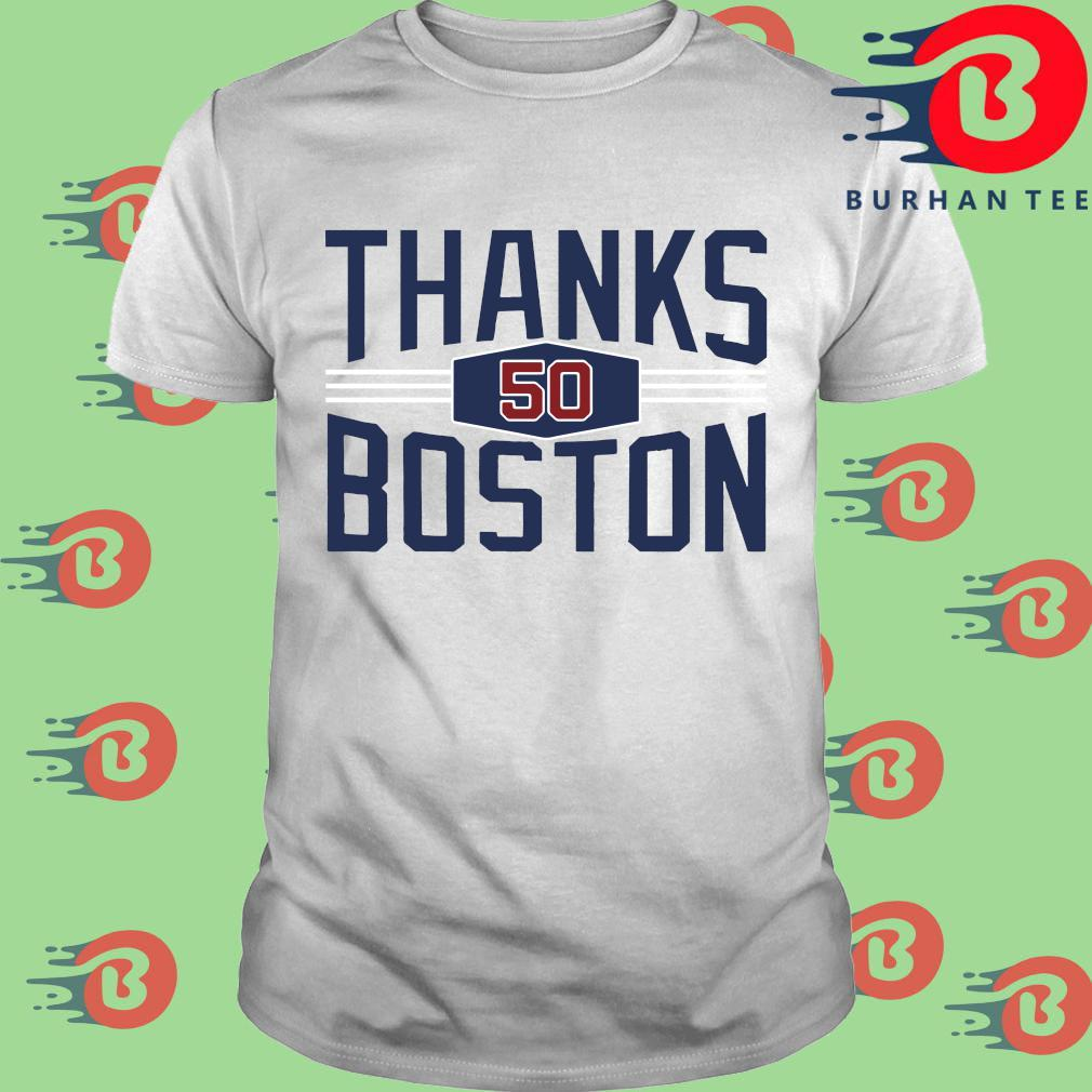 Mookie Betts thanks Boston shirt