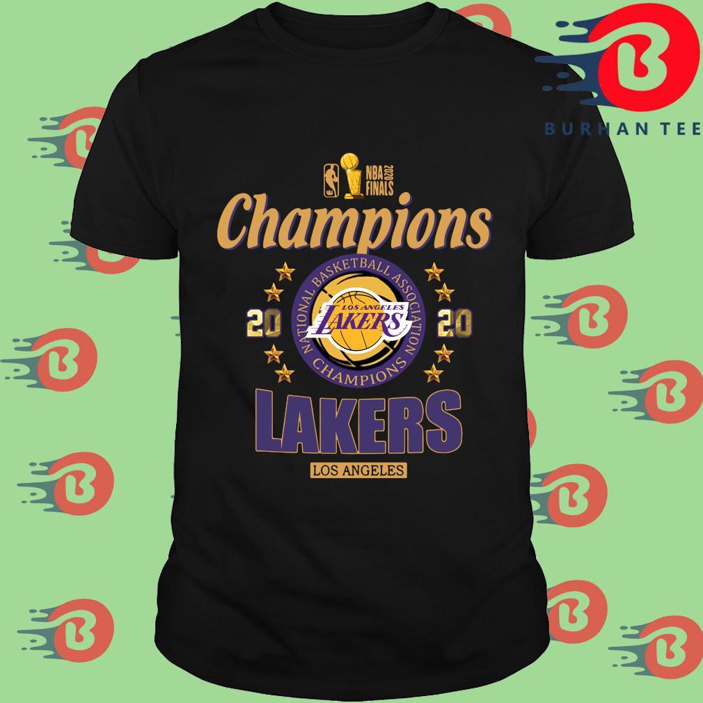 NBA 2020 finals Champions Los Angeles Lakers basketball shirt