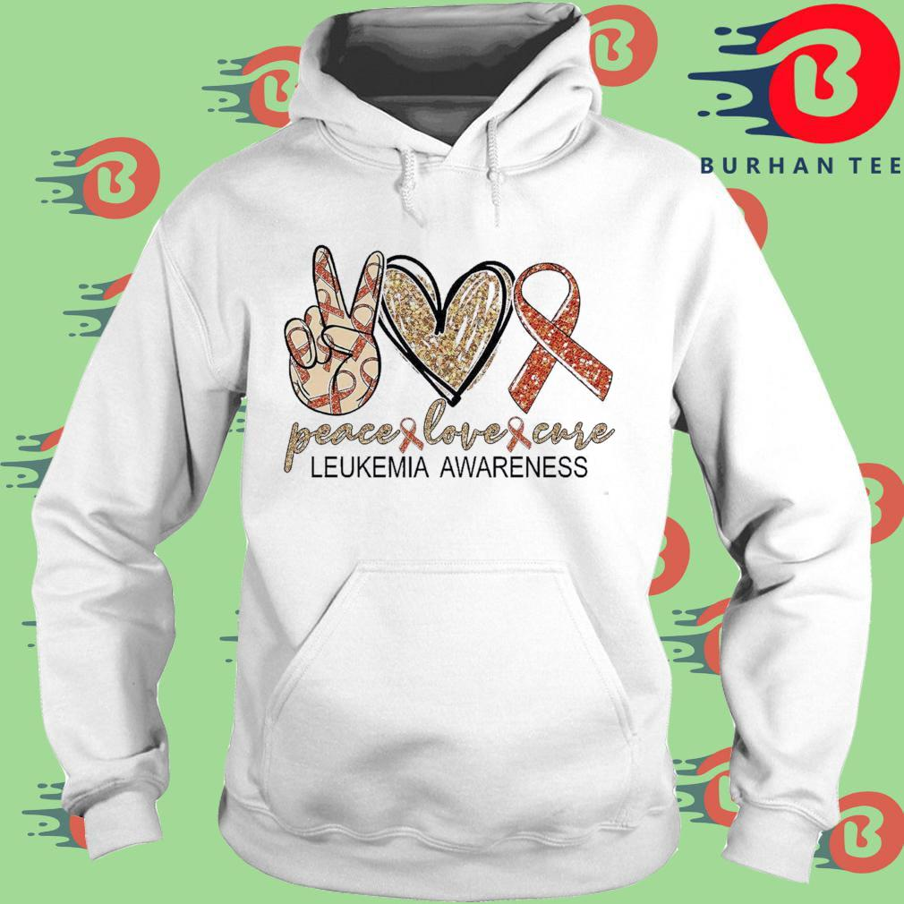 Peace Love Cure leukemia awareness Diamond s trang Hoodie