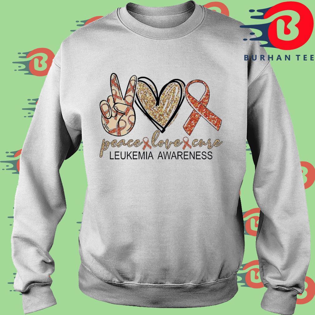 Peace Love Cure leukemia awareness Diamond s trang Sweater