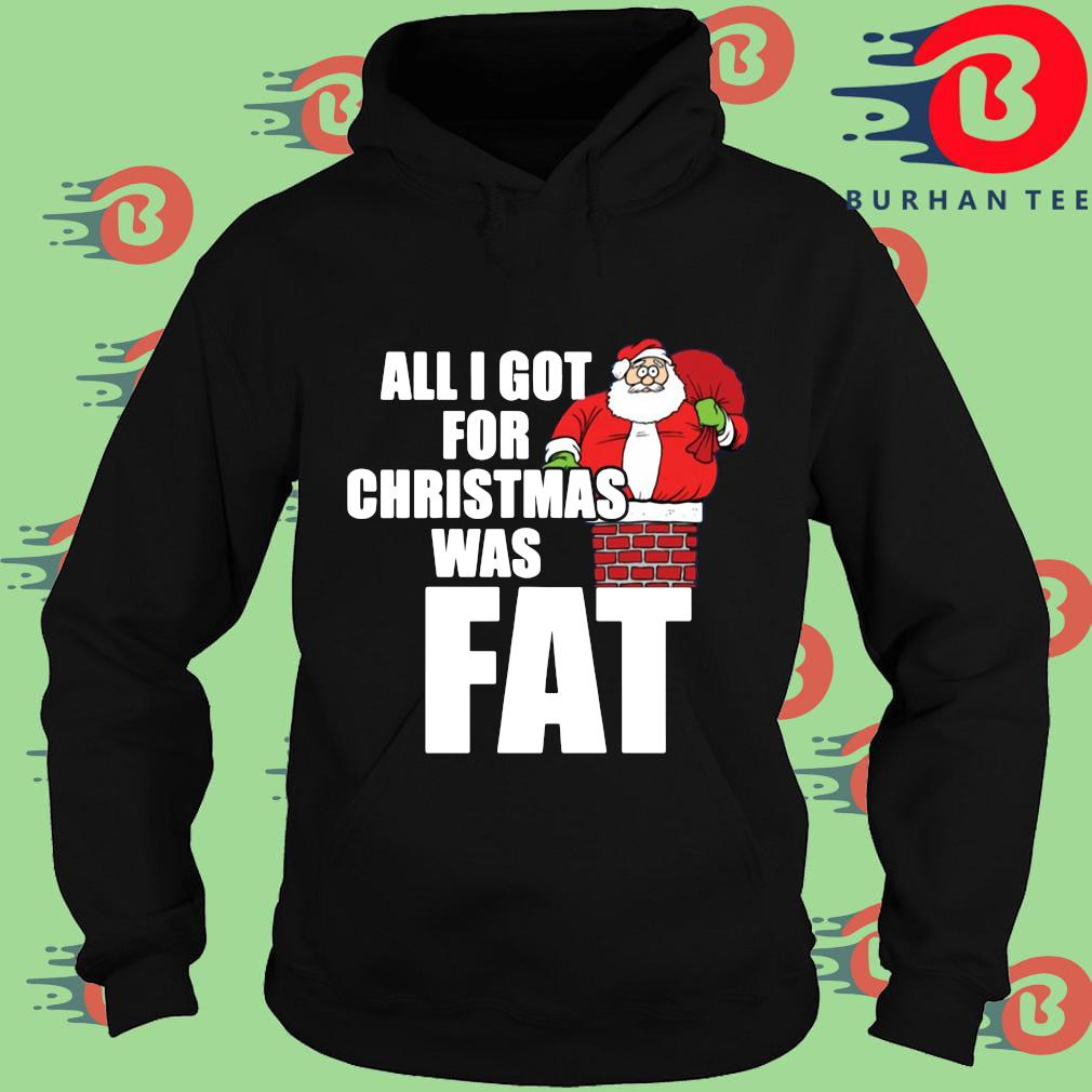 Santa all I got for Christmas was fat sweater Hoodie