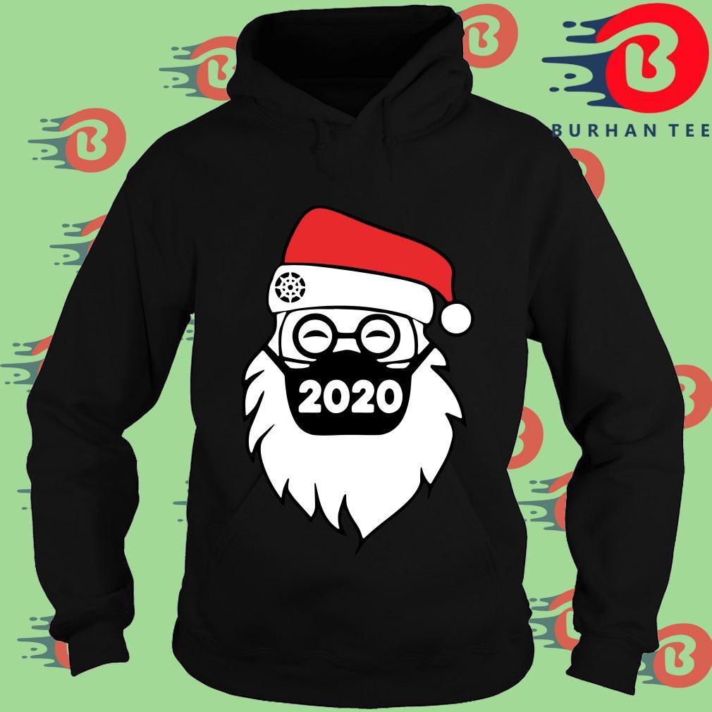 Santa Face Mask 2020 Christmas Sweater Hoodie