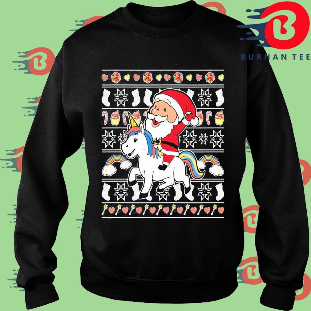 Santa riding unicorn Christmas s Sweater