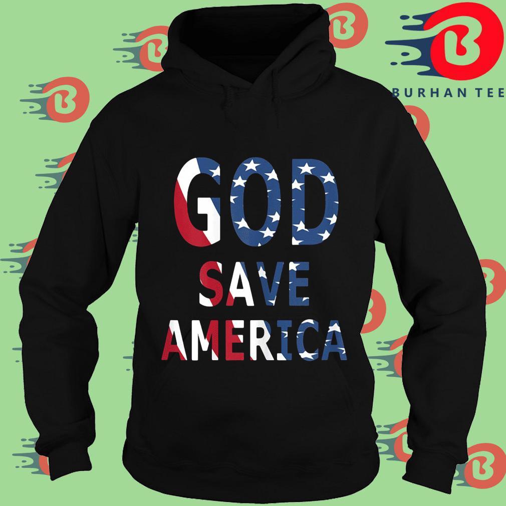 USA flag God save America s Hoodie