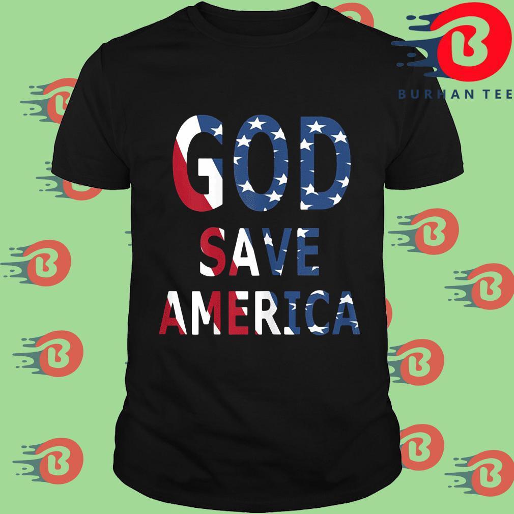 USA flag God save America shirt
