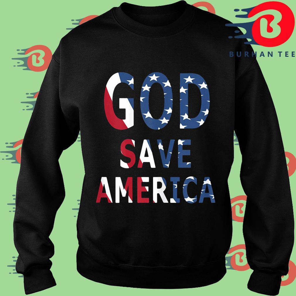 USA flag God save America s Sweater