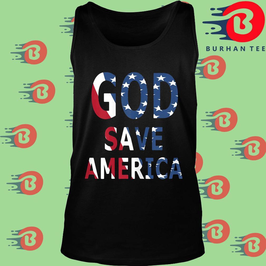 USA flag God save America s Tank top
