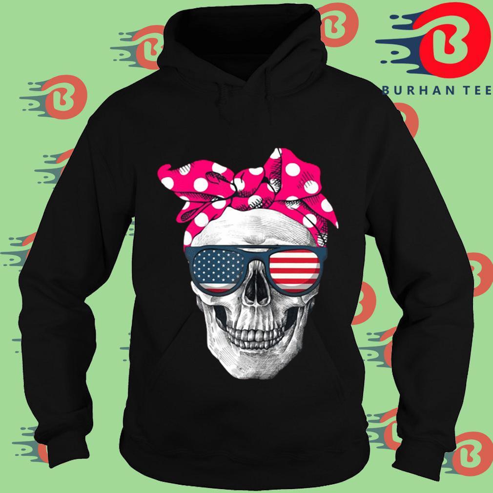 Womens American Skull Women's Pride With Cute Pink Polka Style 2020 Shirt Hoodie