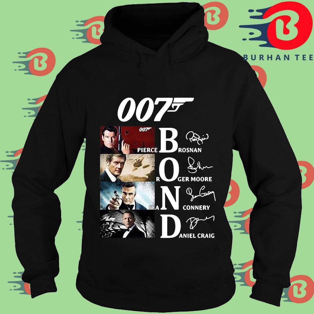 007 Pierce brosnan Roger Moore Sean Connery Daniel Craig signatures s Hoodie