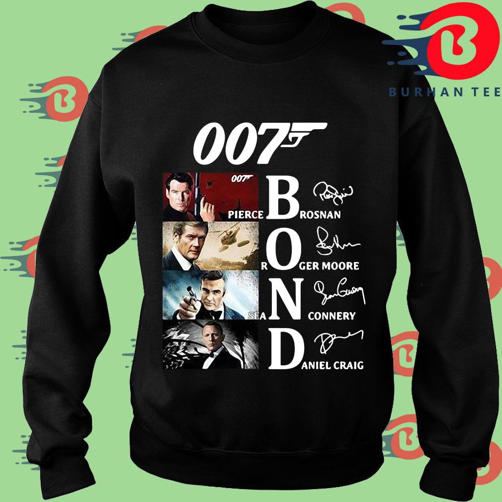 007 Pierce brosnan Roger Moore Sean Connery Daniel Craig signatures shirt