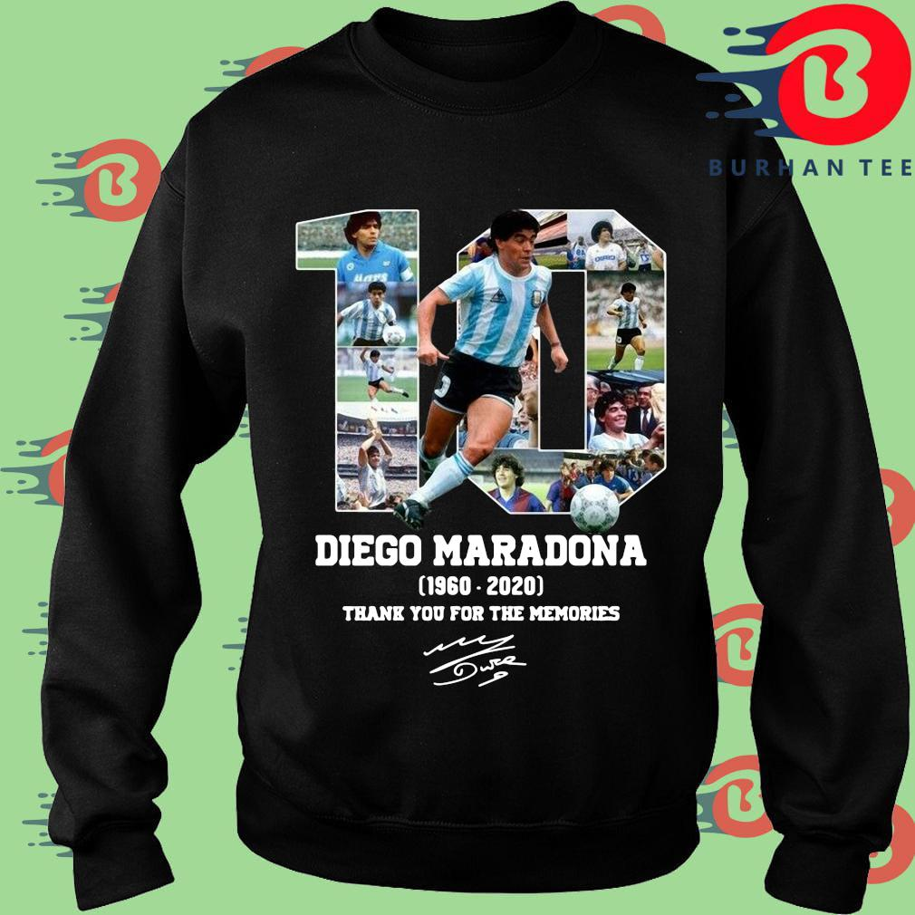 10 Diego Maradona 1960 2020 signature thank you for the memories shirt