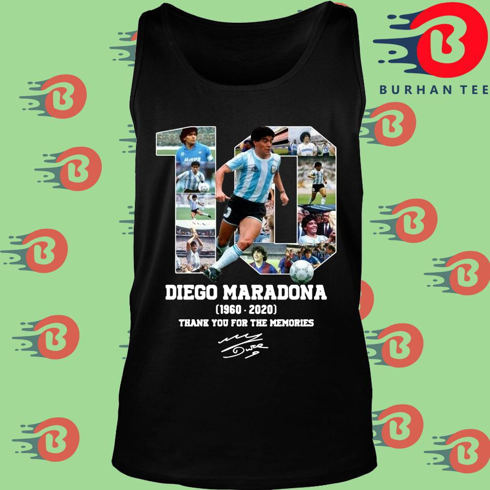 10 Diego Maradona 1960 2020 signature thank you for the memories s Tank top