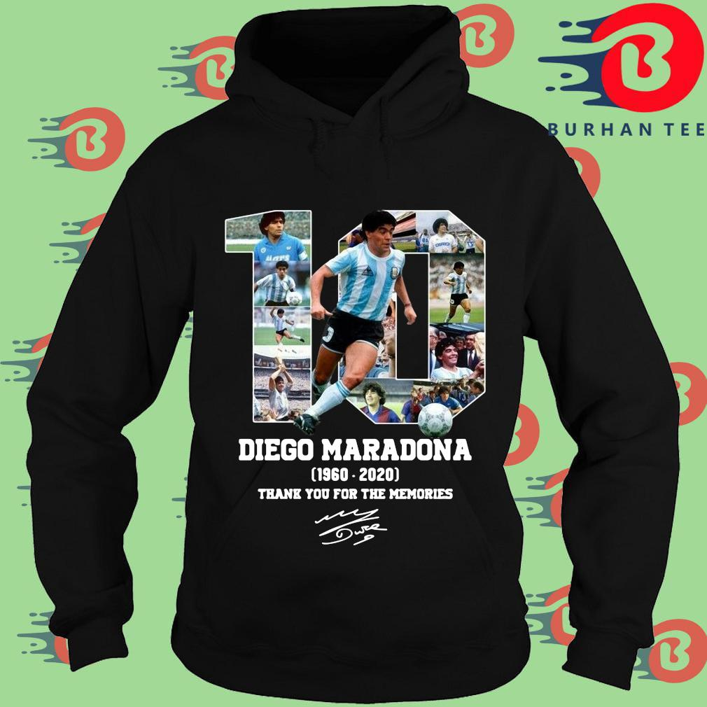 10 Diego Maradona 1960-2020 thank you for the memories signature s Hoodie