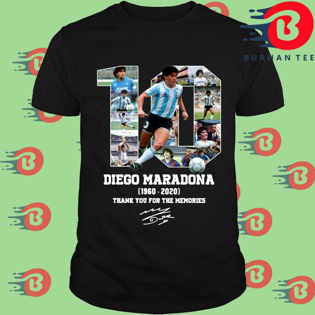 10 Diego Maradona 1960-2020 thank you for the memories signature s Shirt