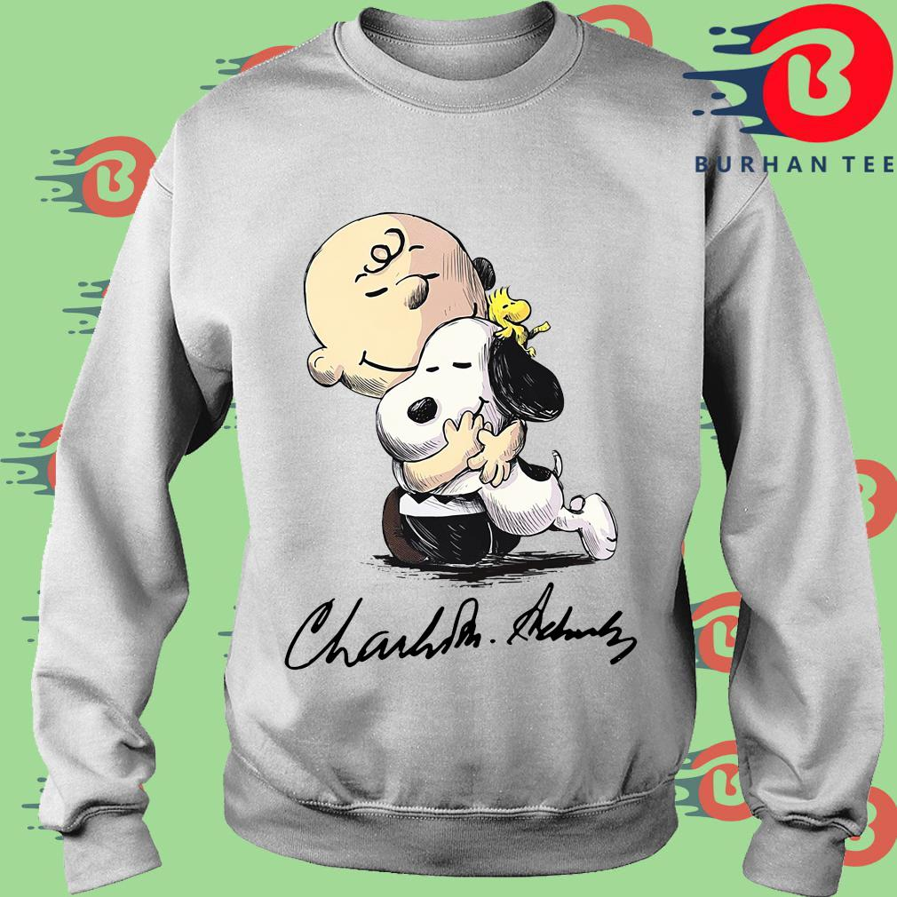 The Charlie Brown Hug Snoopy Signature Shirt