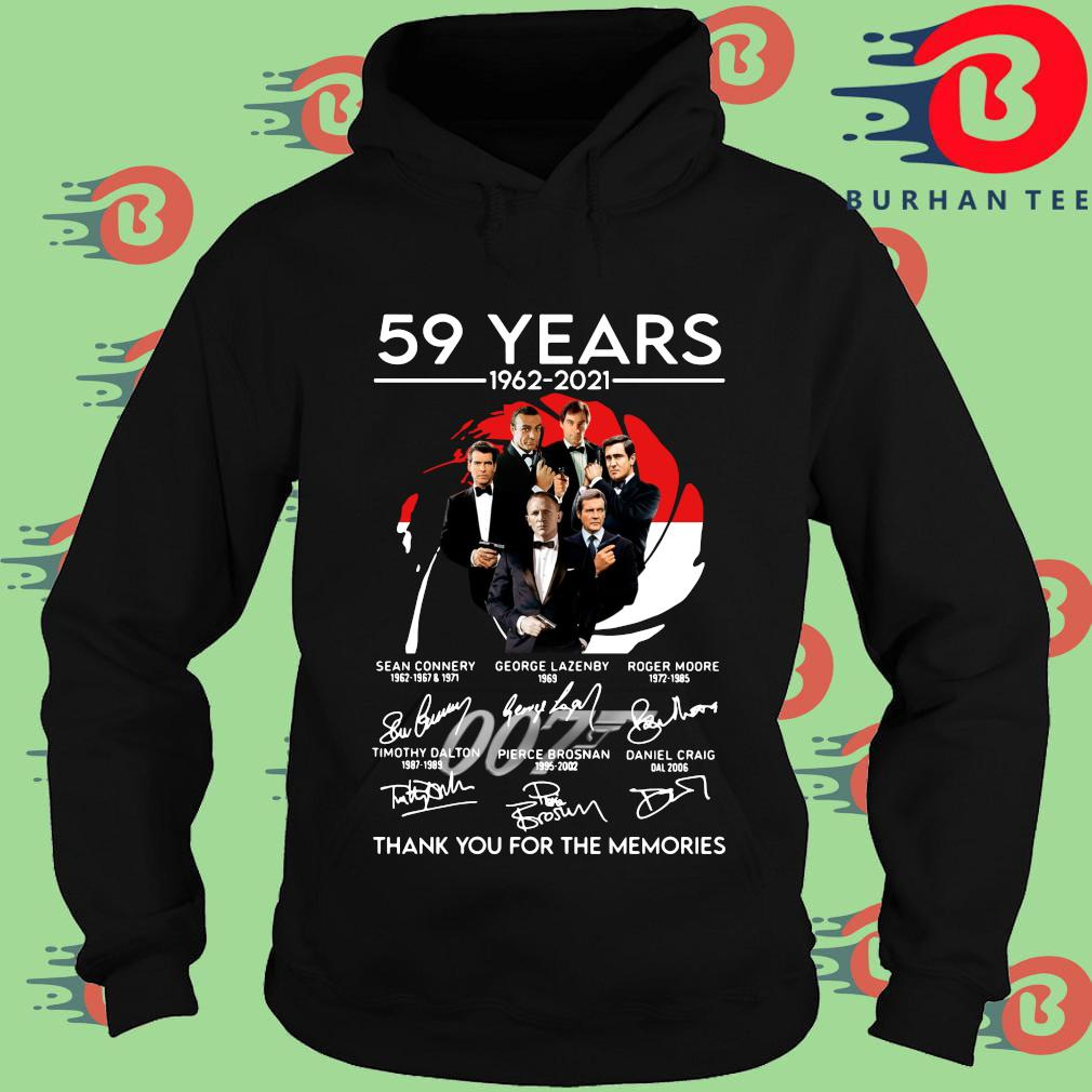 007 59 years 1962-2021 thank you for the memories signatures s Hoodie