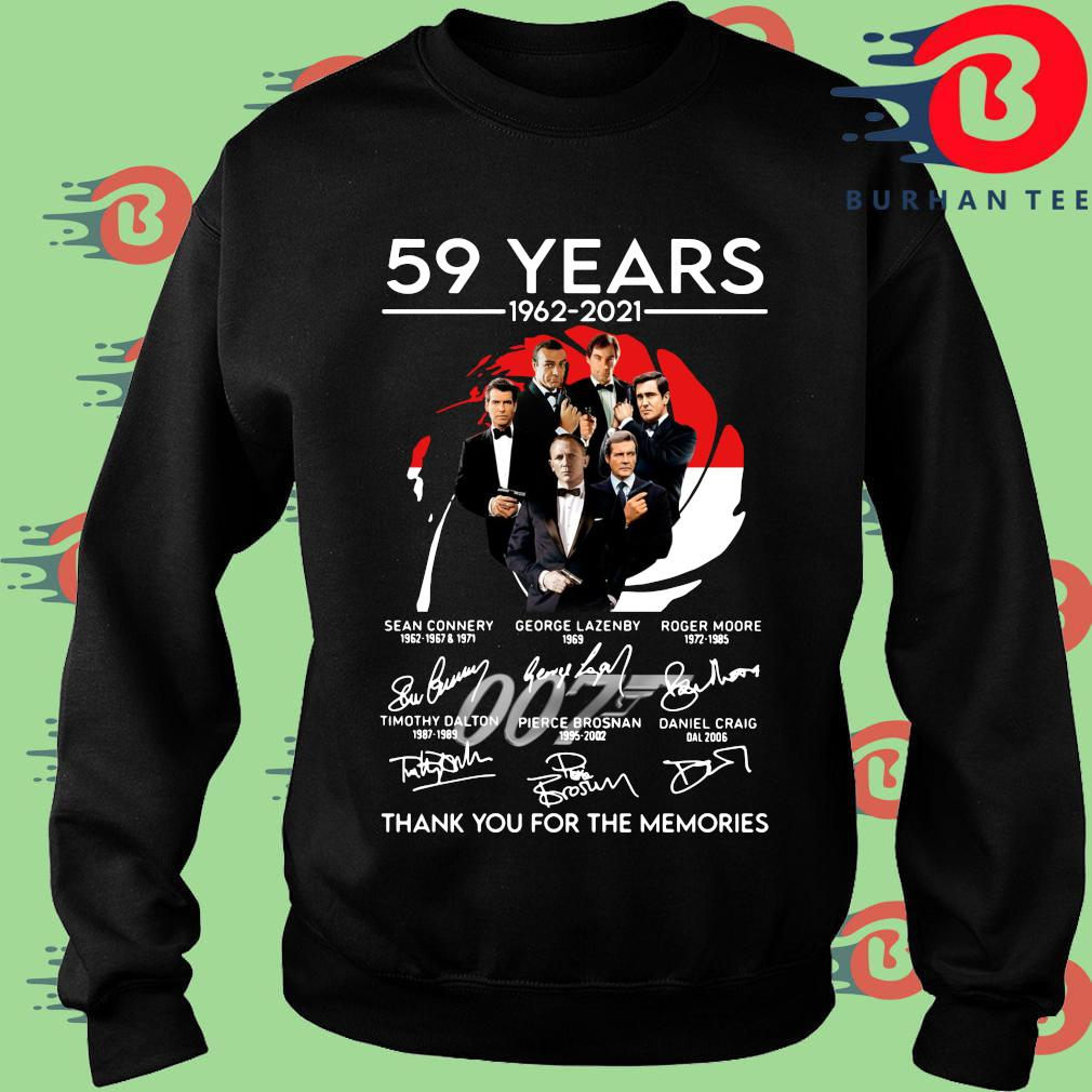 007 59 years 1962-2021 thank you for the memories signatures s Sweater