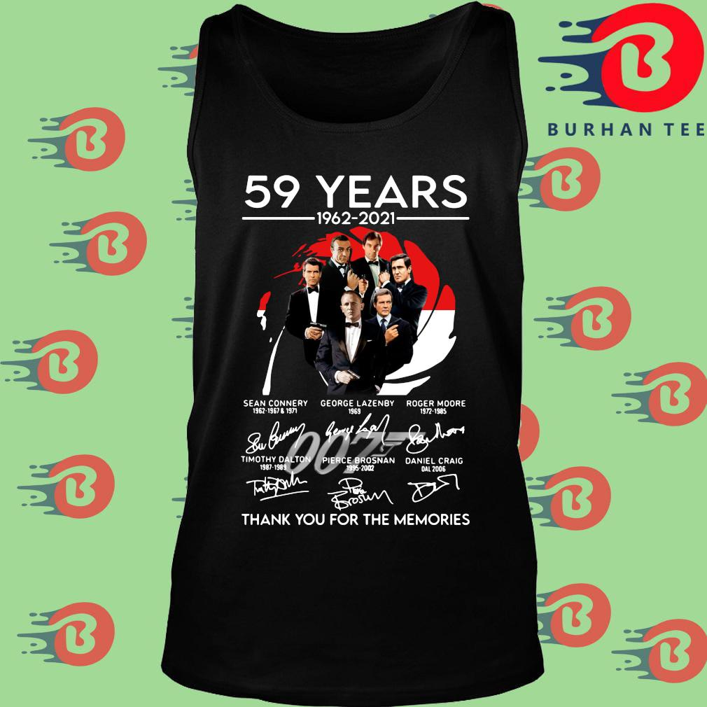 007 59 years 1962-2021 thank you for the memories signatures s Tank top