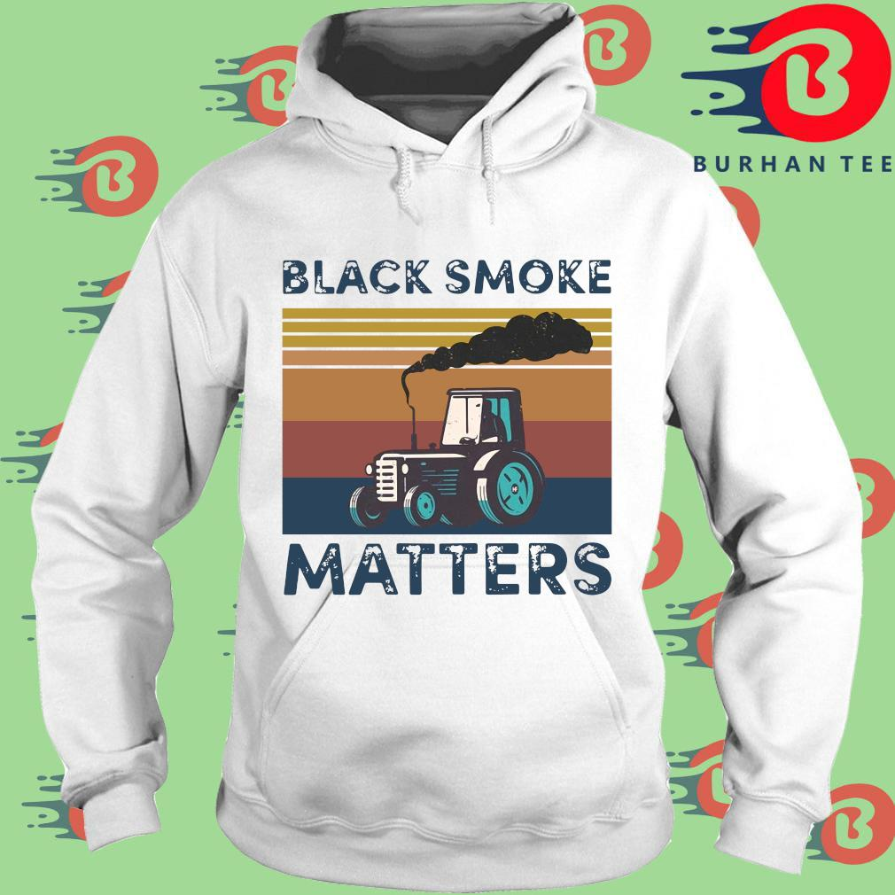 Black smoke matters vintage s trang Hoodie