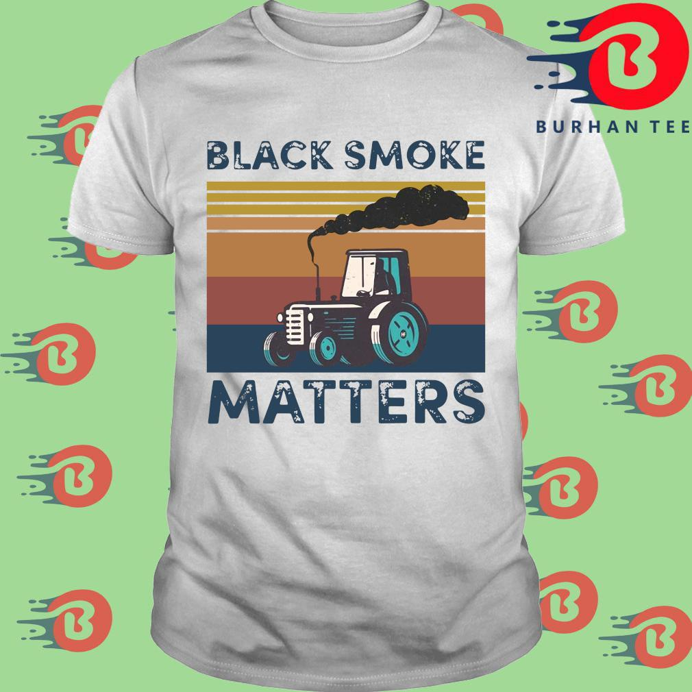 Black smoke matters vintage shirt