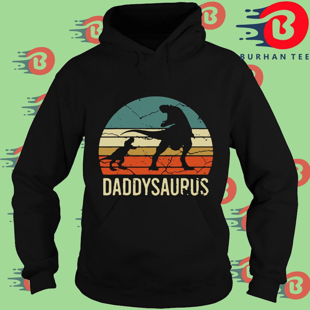 Dinosaur daddysaurus vintage sunset s Hoodie