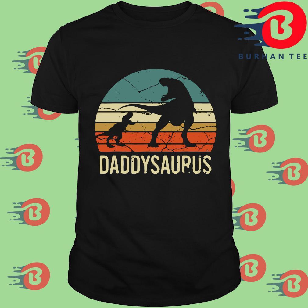 Dinosaur daddysaurus vintage sunset shirt