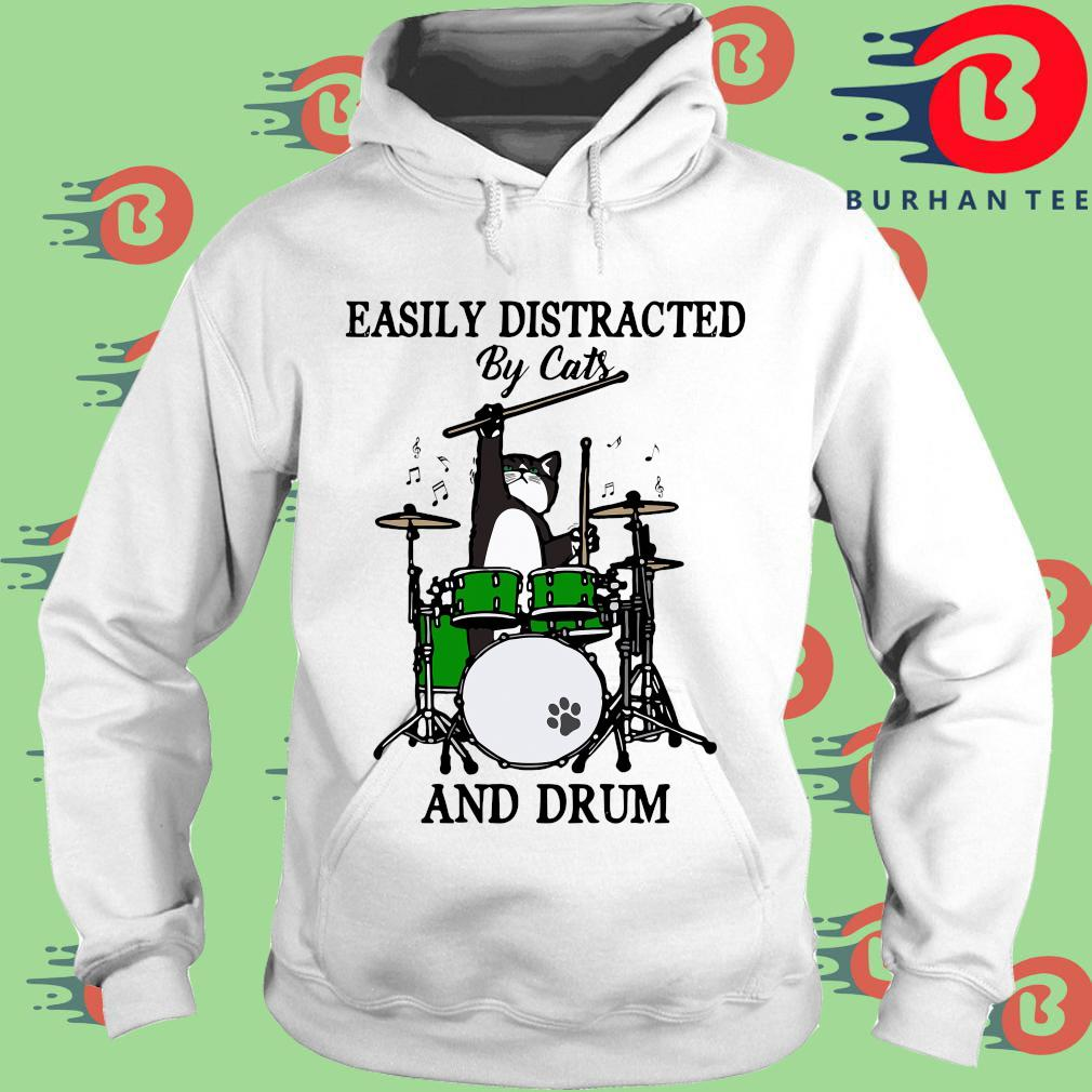 Easily distracted by cats and drum s trang Hoodie