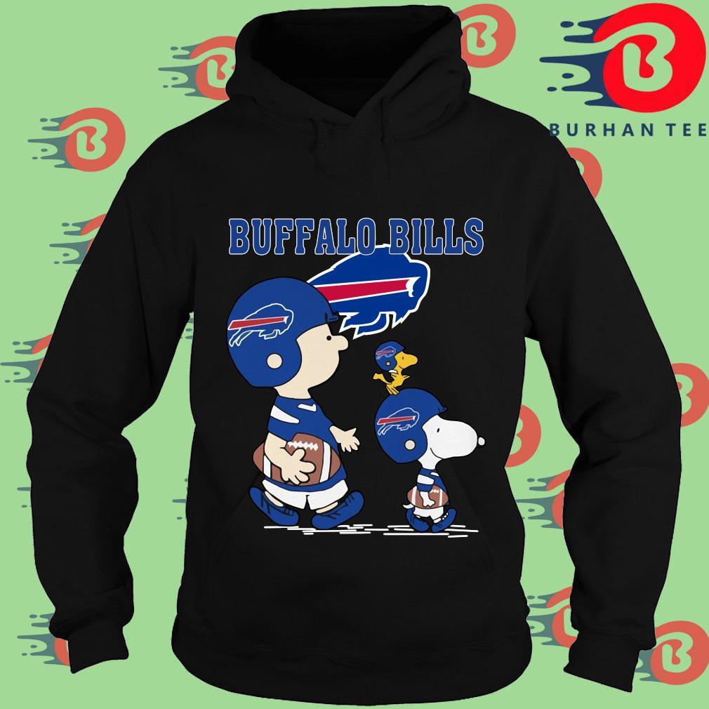 Funny Charlie Brown and Woodstock Buffalo Bills tee s Hoodie