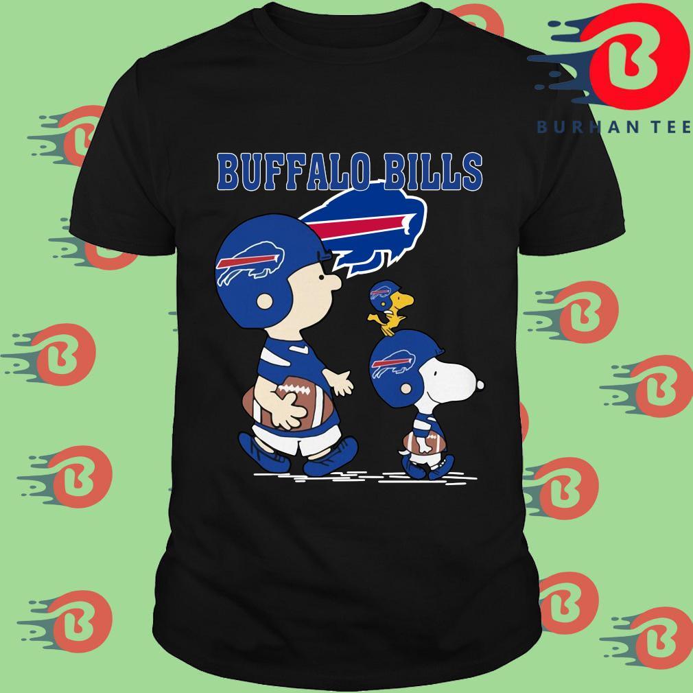 Funny Charlie Brown and Woodstock Buffalo Bills tee shirt