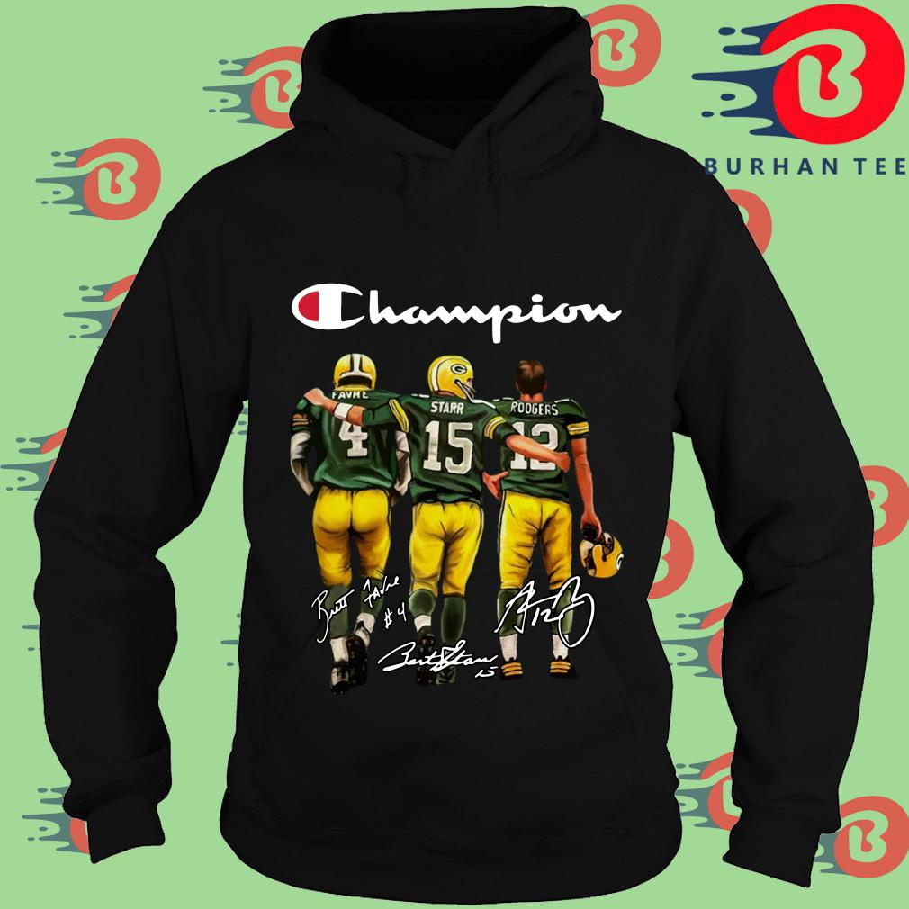 Green Bay Packers Champion Favre Bart Starr Aaron Charles Rodgers Signatures Shirt Hoodie