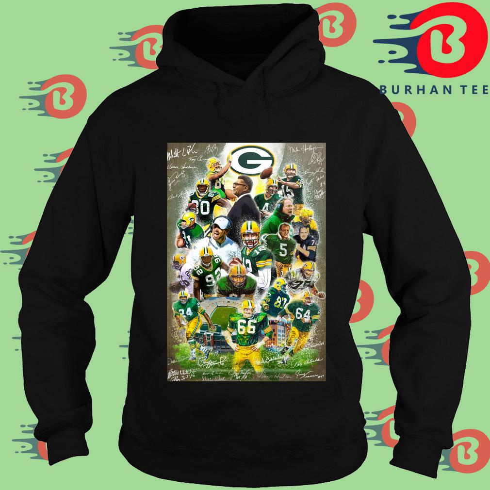 Green Bay Packers full player signatures s Hoodie