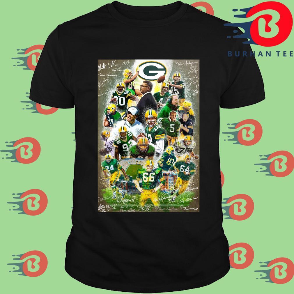 Green Bay Packers full player signatures shirt
