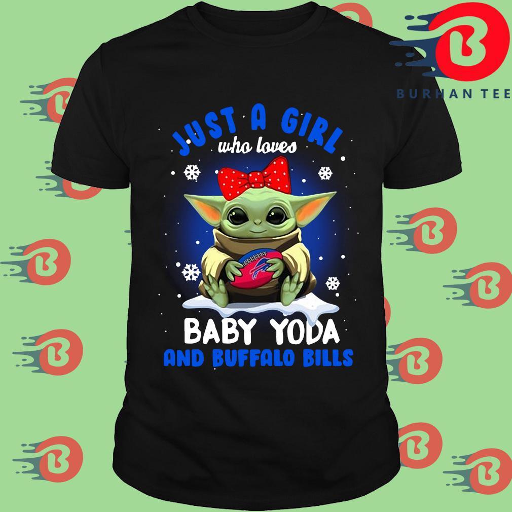 Just a girl who loves Baby Yoda and Buffalo Bills shirt