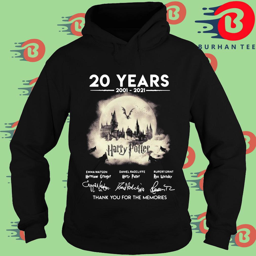 Official 20 years 2002-2021 Harry Potter thank you for the memories signatures s Hoodie