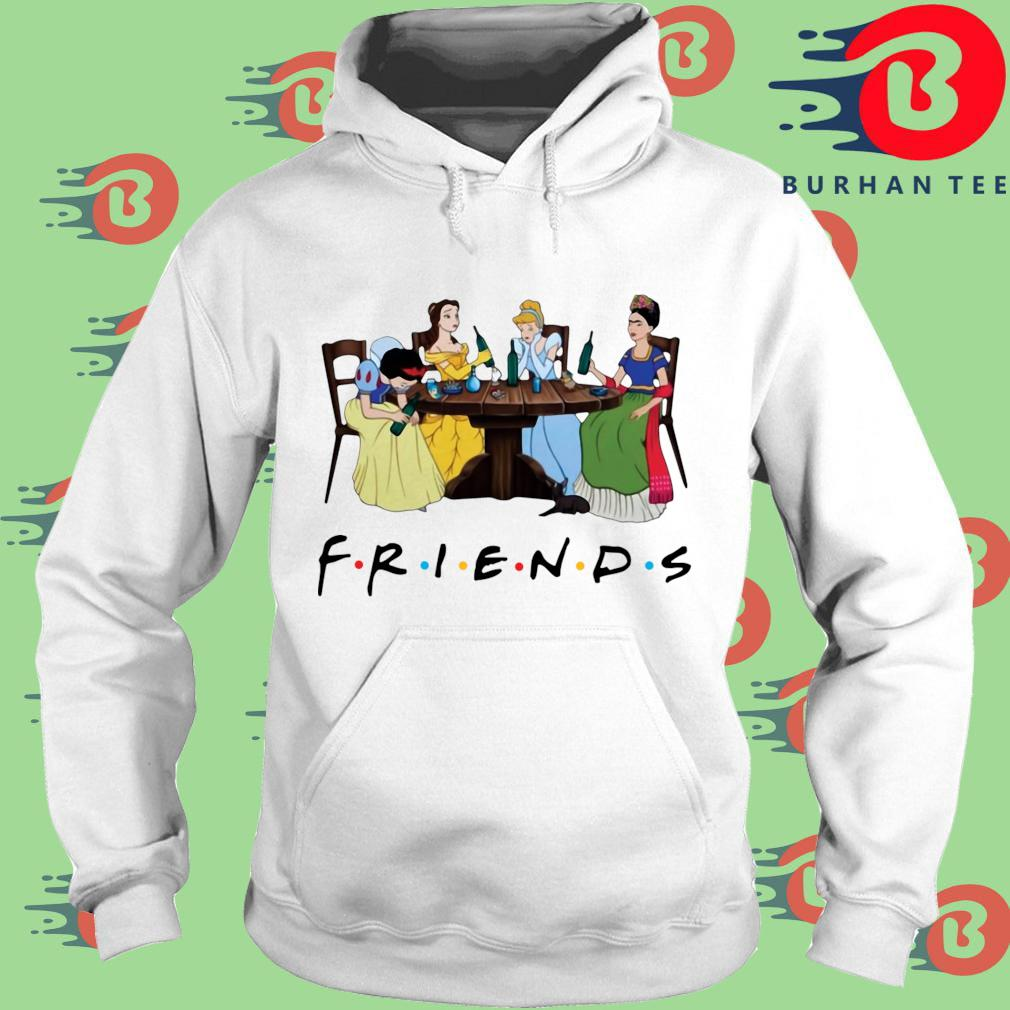 Official Frida Kahlo and Disney princesses drinking Friends TV show s trang Hoodie