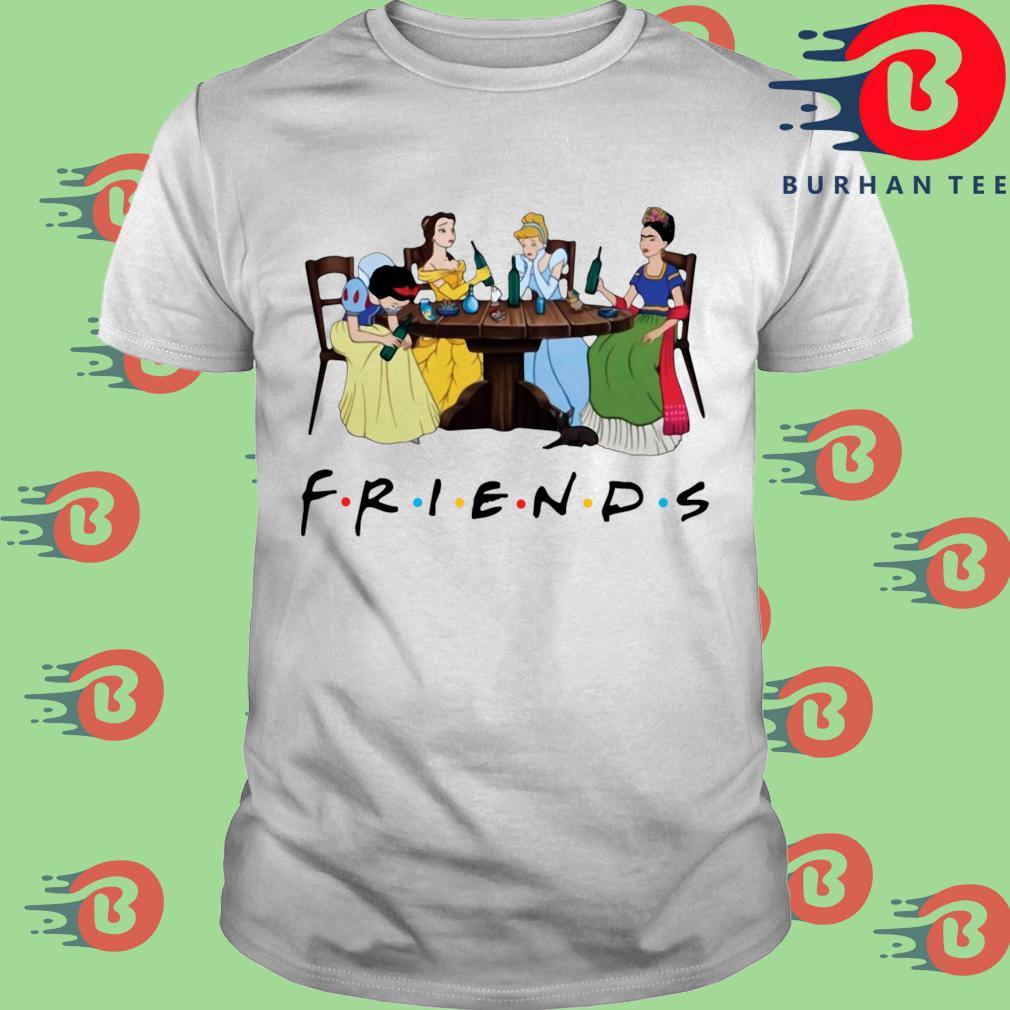 Official Frida Kahlo and Disney princesses drinking Friends TV show shirt