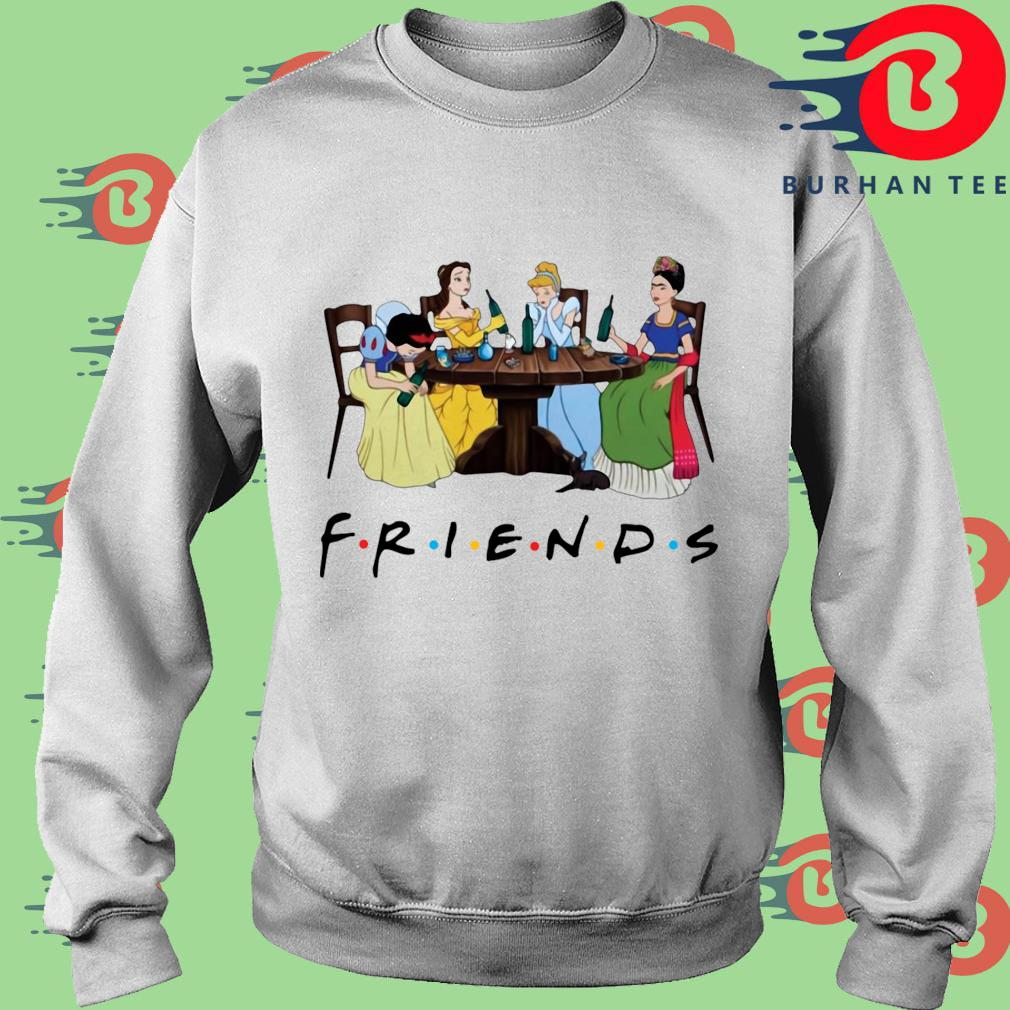 Official Frida Kahlo and Disney princesses drinking Friends TV show s trang Sweater