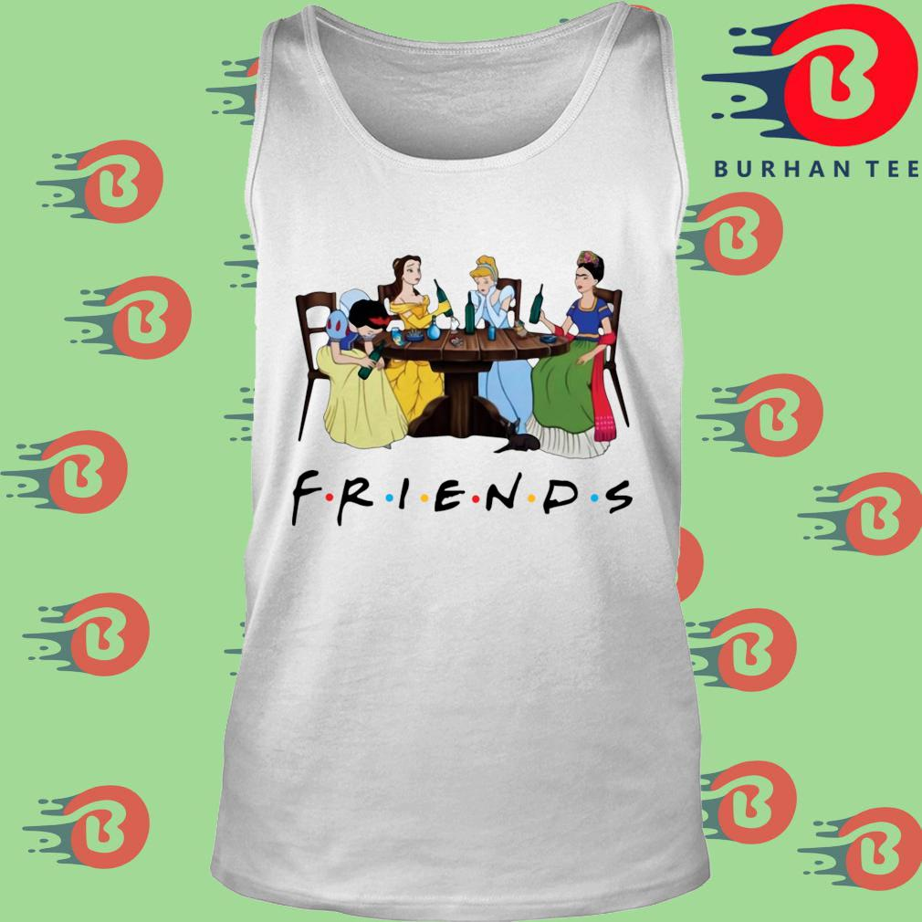 Official Frida Kahlo and Disney princesses drinking Friends TV show s trang Tank top