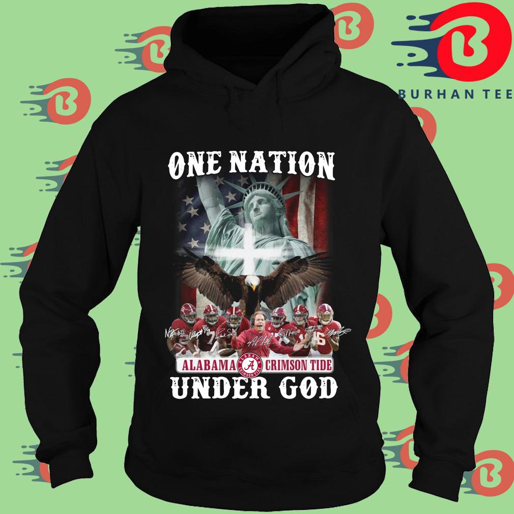 One nation Alabama Crimson Tide under god signatures s Hoodie