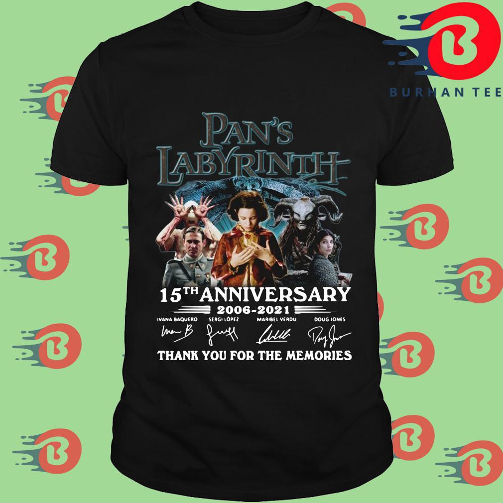 Pan's Labyrinth 15th anniversary 2006-2021 thank you for the memories signatures shirt
