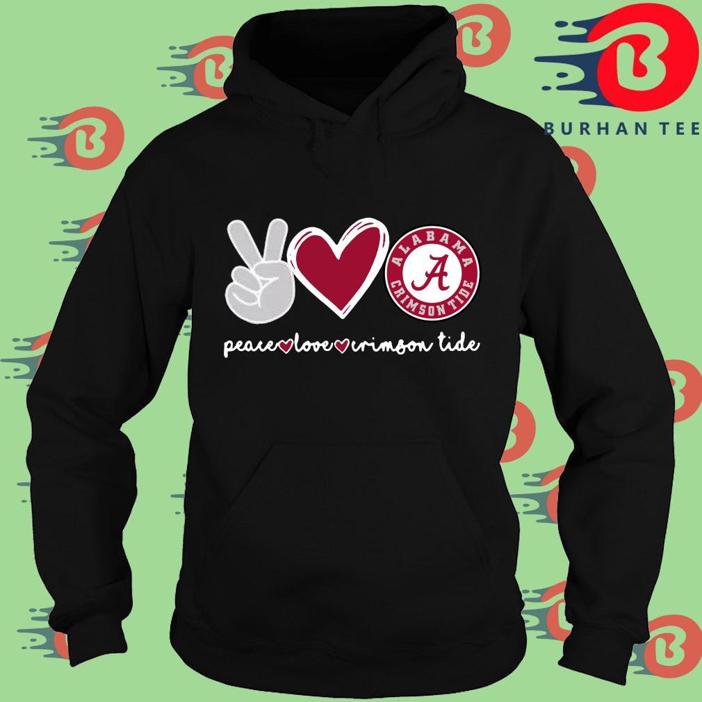 Peace Love Alabama Crimson Tide s Hoodie