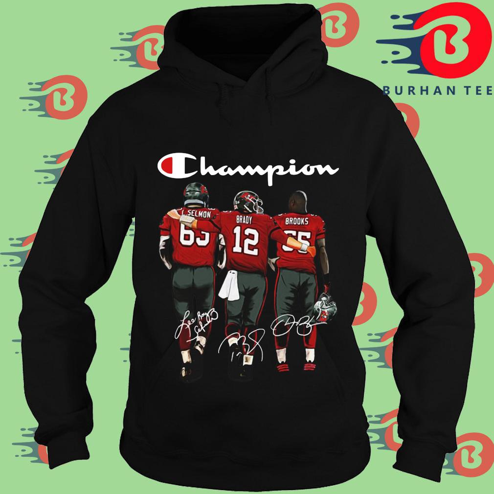 Tampa Bay Buccaneers Champions Brady Brooks signatures s Hoodie