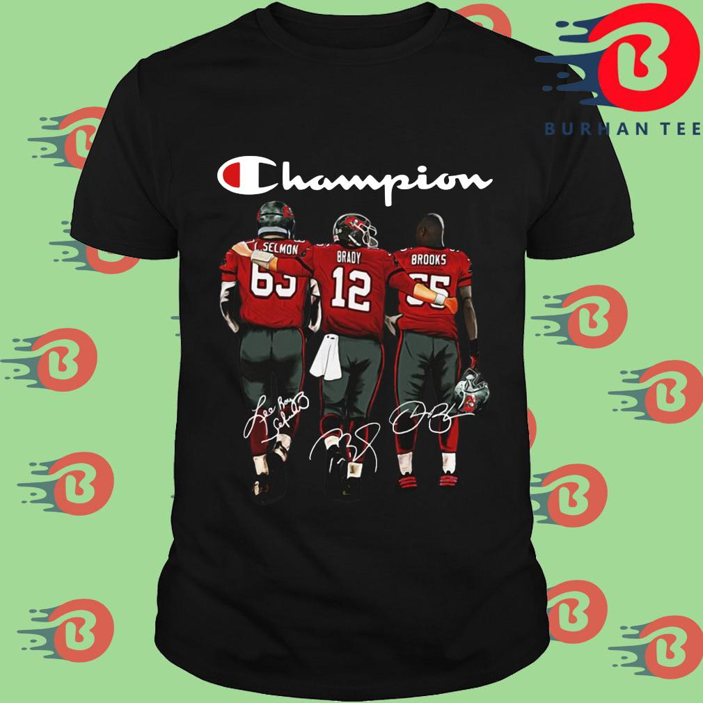 Tampa Bay Buccaneers Champions Brady Brooks signatures shirt