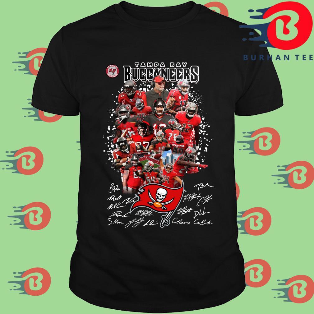 Tampa Bay Buccaneers player signatures shirt
