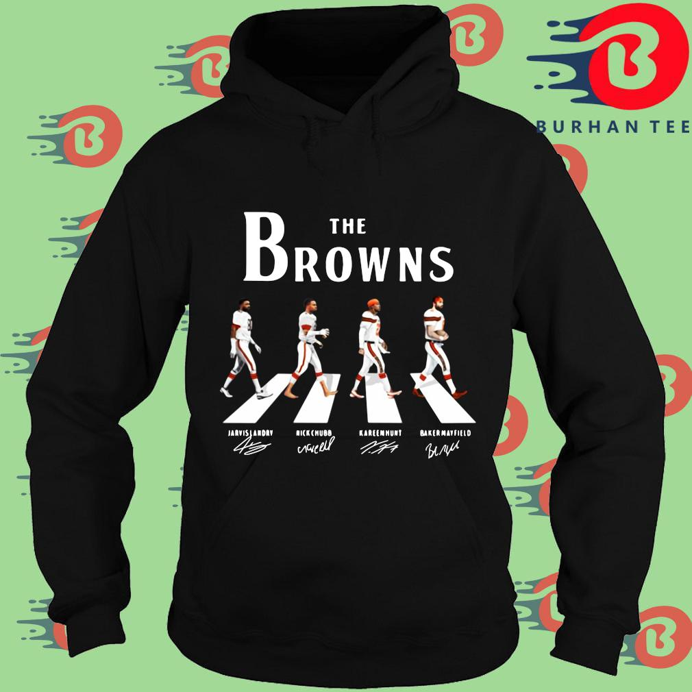 The Cleveland Browns abbey road signatures s Hoodie