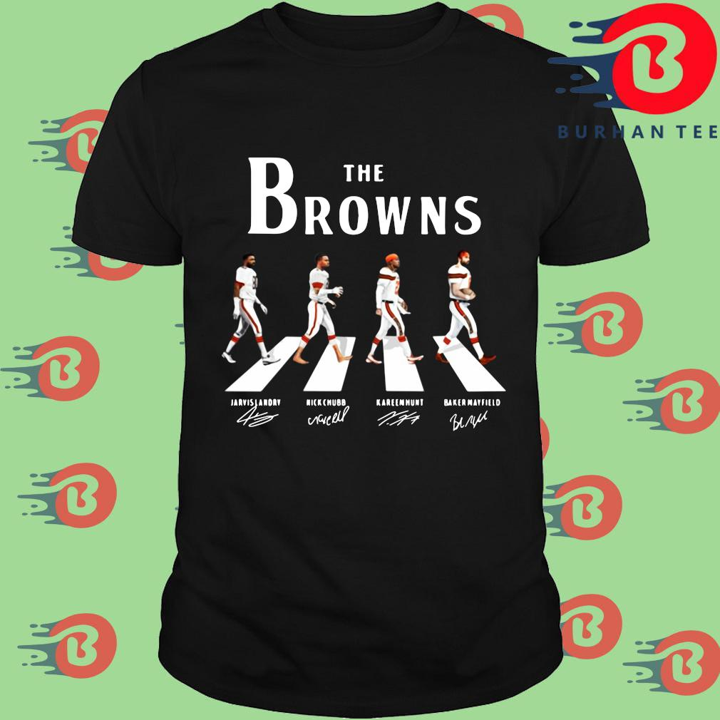 The Cleveland Browns abbey road signatures shirt